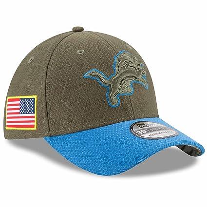 17407476b03 Detroit Lions New Era NFL 39THIRTY 2017 Sideline  quot Salute to  Service quot  Hat S