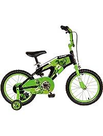 Kawasaki Monocoque Kid's Bike, 16 inch Wheels, 11 inch Frame, Boy's Bike, Black/Green