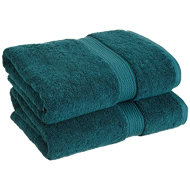 Superior Luxury Cotton Bath Towel Set - 2-Piece Towel Set, 900 GSM, Long-Staple Cotton Towels, Teal