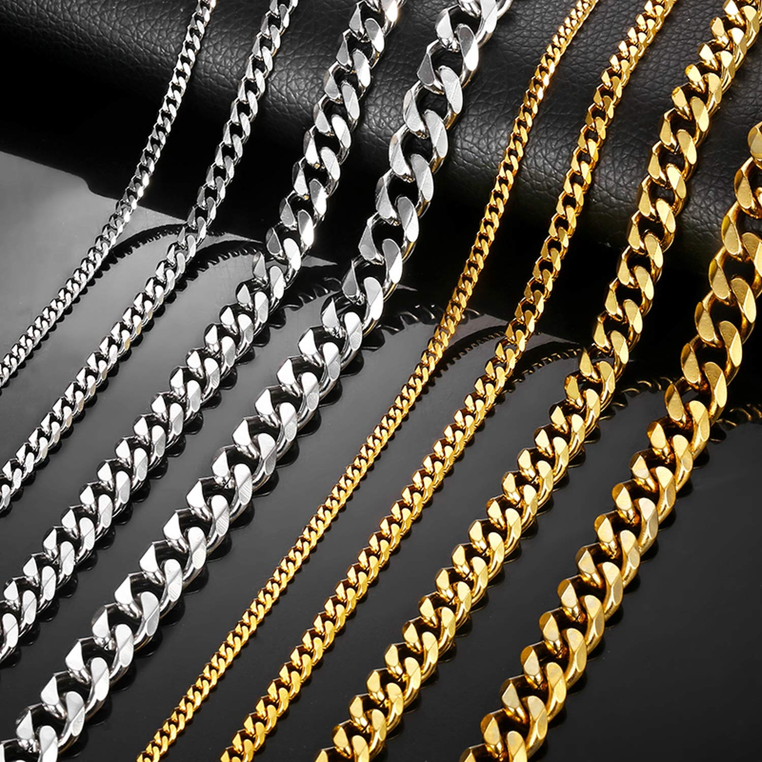 Mens Necklace Chain Stainless Steel Gold Silver Black 2019 Necklace for Men Jewelry Gift,k59
