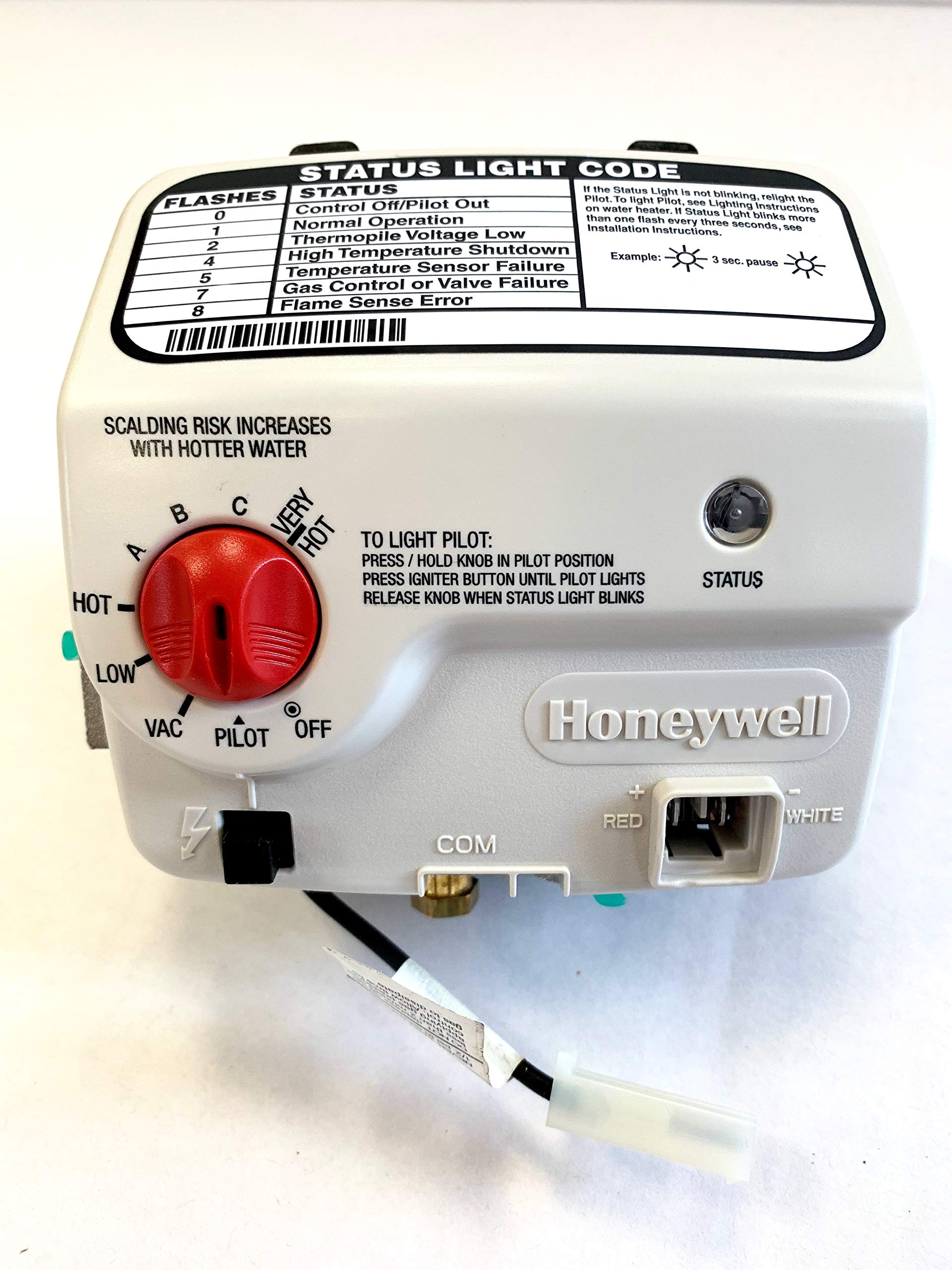 Reliance Water Heater Liquid Propane Gas Control Valve 100112338 9007890005 100093977 6911135 Thermostat Compatible with A.O. Smith, Reliance, State, and American Branded Water Heaters by Variety Home Supply