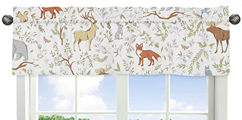 Blue, Grey and White Animal Print Window Valance for Woodland Toile Collection Bedding Sets
