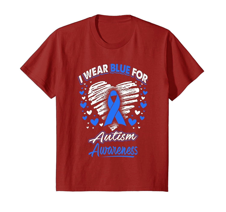 I Wear Blue For Autism Awareness T Shirt-Teechatpro