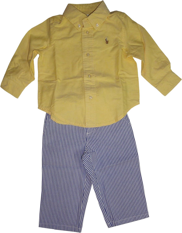 Amazon Com Ralph Lauren Polo Infant Boys 2 Piece Outfit Yellow