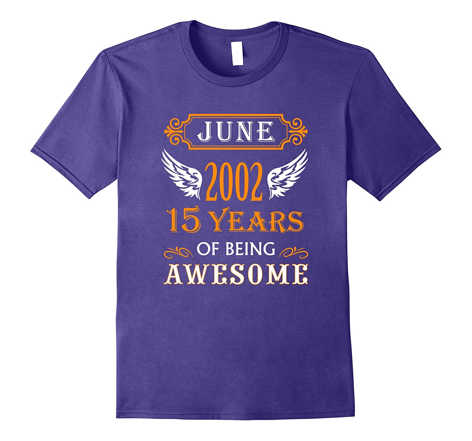 June Birthday Gift Shirt for 15 Year olds Born in 2002 Teen