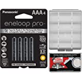 Panasonic eneloop Pro (4) AAA 950mAh Pre-Charged NiMH Rechargeable Batteries with Battery Case + Kit