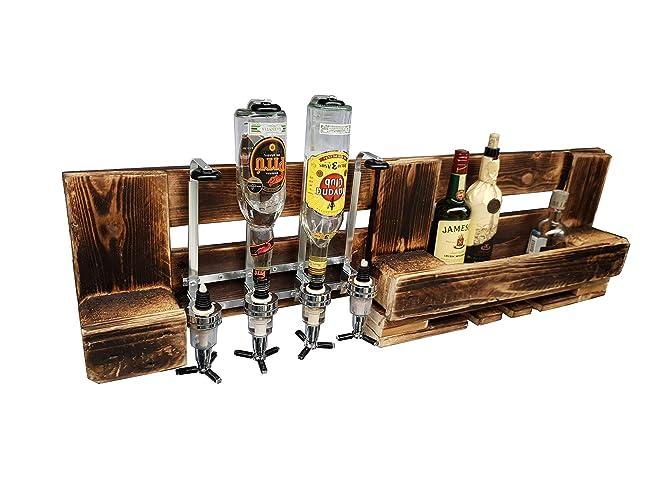 weinregal aus europaletten mit dosierfunktion im rustikalen holz vintage stil gross palettenmobel aus deutschland geschenkidee altes