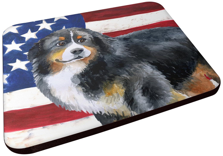 Carolines Treasures BB9645FC Bernese Mountain Dog Patriotic Decorative coasters Multicolor