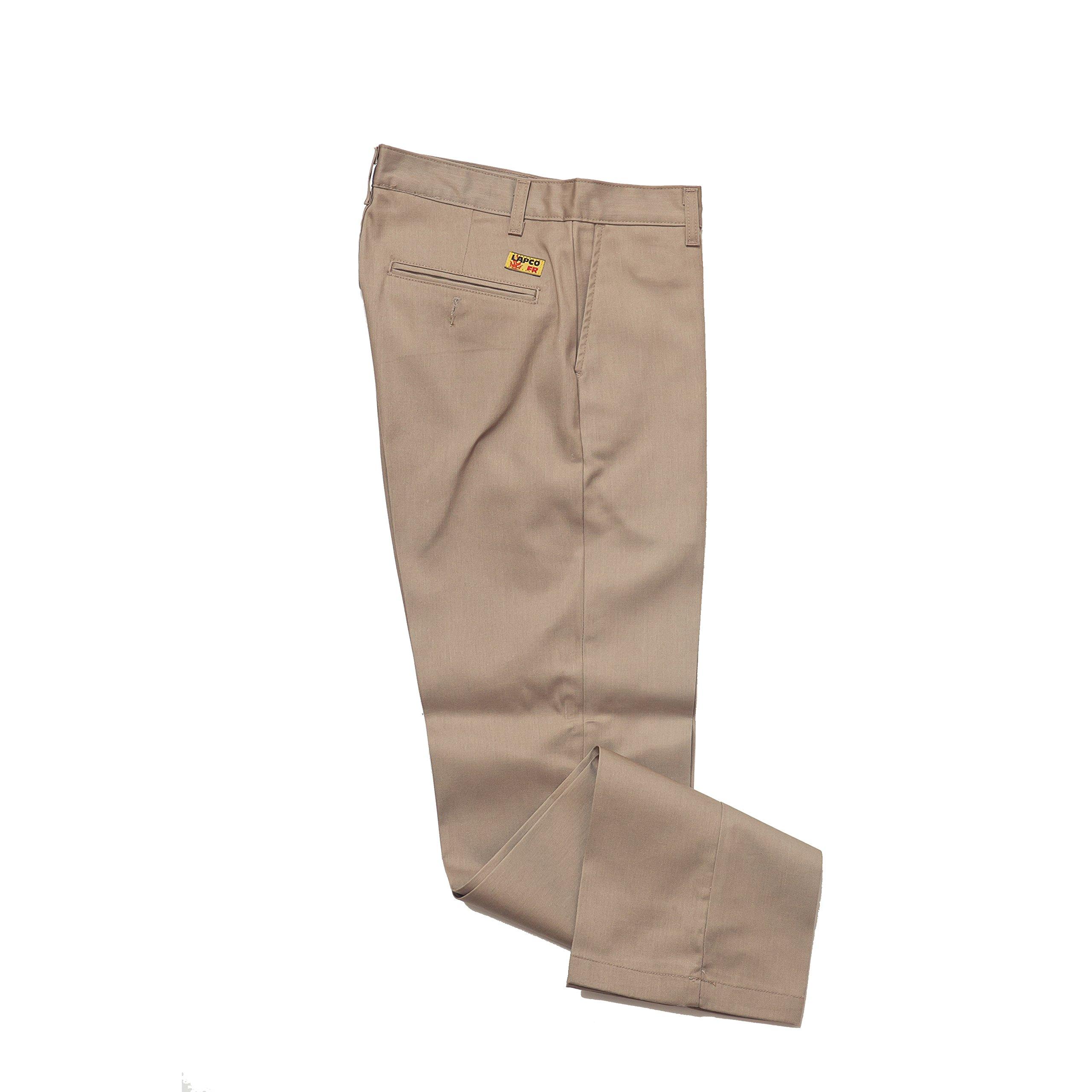 Lapco FR P-INKAC 32X32 Advanced Comfort Uniform Pants, 32'' x 32'', Khaki