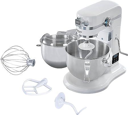 AEG KM 6100 Robot de cocina, Metal y Acero Inoxidable, Blanco: Amazon.es: Hogar