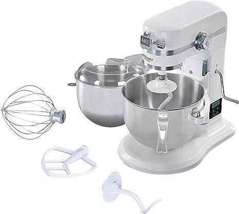 AEG KM 6100 Robot de cocina, Metal y Acero Inoxidable, Blanco ...