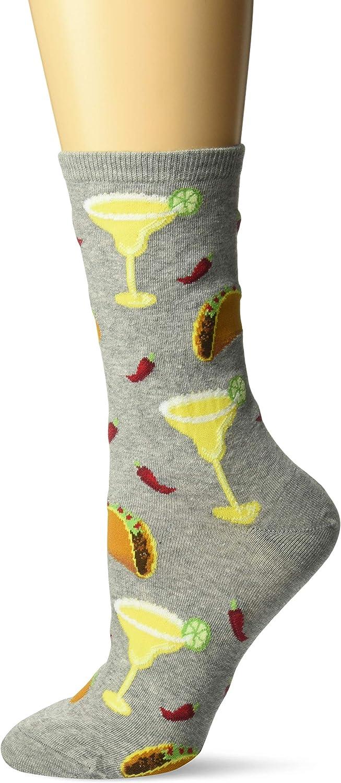 Hot Sox womens Food and Booze Novelty Casual Crew Socks