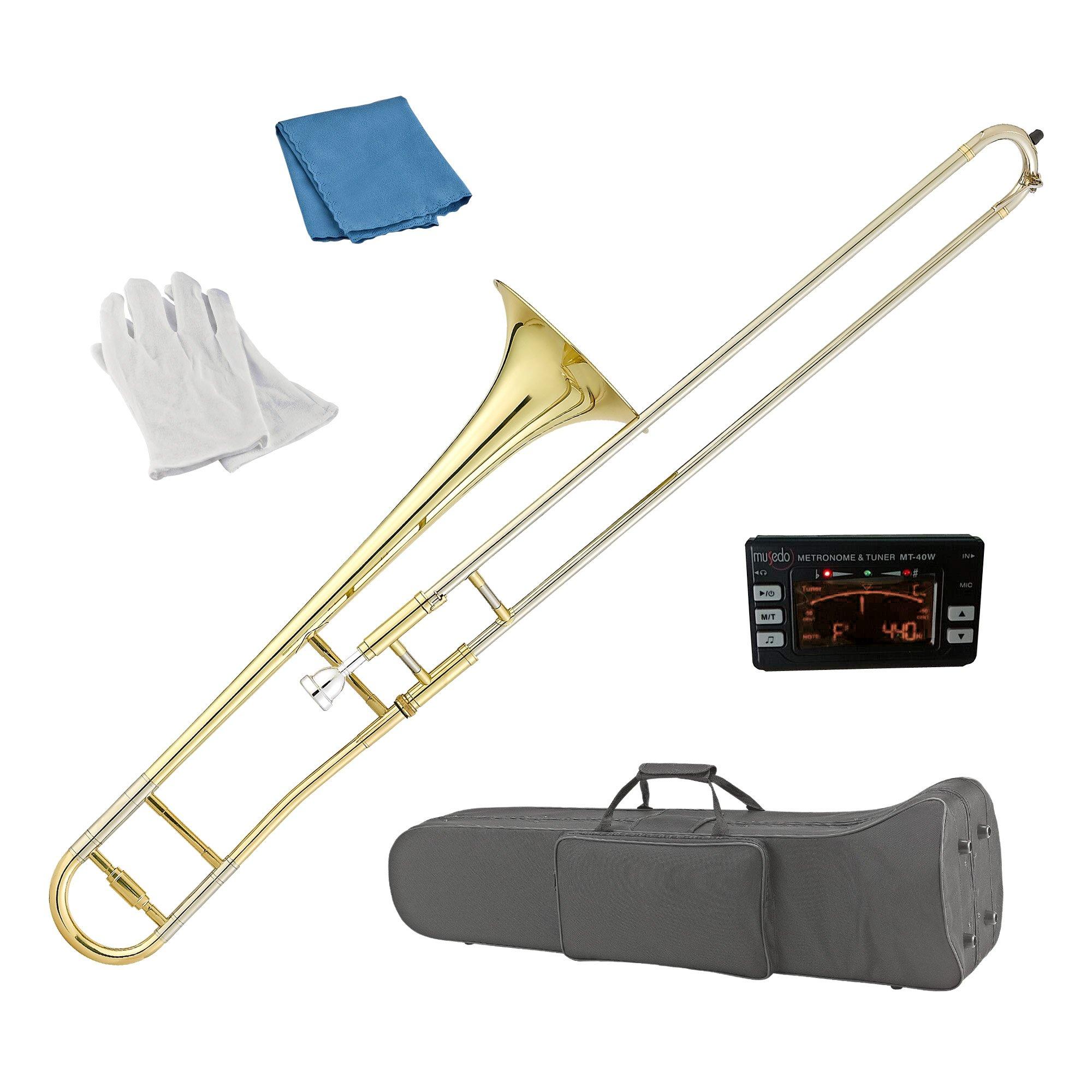 Estella TB200 Gold Lacquer B Flat Tenor Slide Trombone,