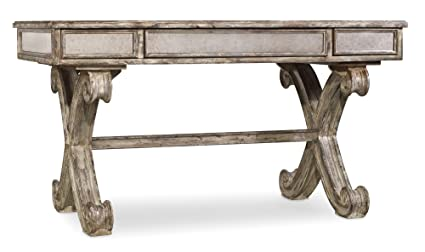 "Hooker Furniture Mirrored 54"" Writing Desk in Weathered Gray - Amazon.com: Hooker Furniture Mirrored 54"