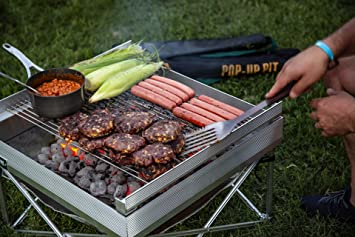 Amazon.com: Campfire Defender Protect Pit Pop Up - Bomberos ...