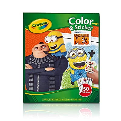 Crayola Despicable Me Color & Sticker Book, Gift for Kids, Age 3, 4, 5, 6 Styles may vary: Toys & Games