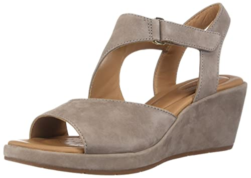 618f954eef0a Clarks Women s Un Plaza Sling Wedges  Amazon.ca  Shoes   Handbags