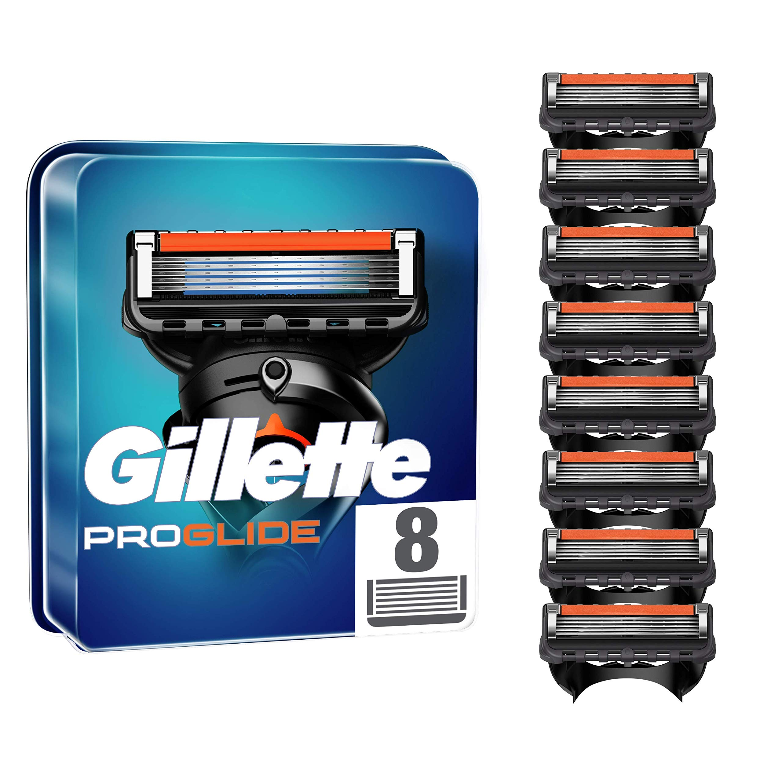Gillette ProGlide Razor Blades for Men, Pack of 8 Refill Blades (Packaging May Vary)