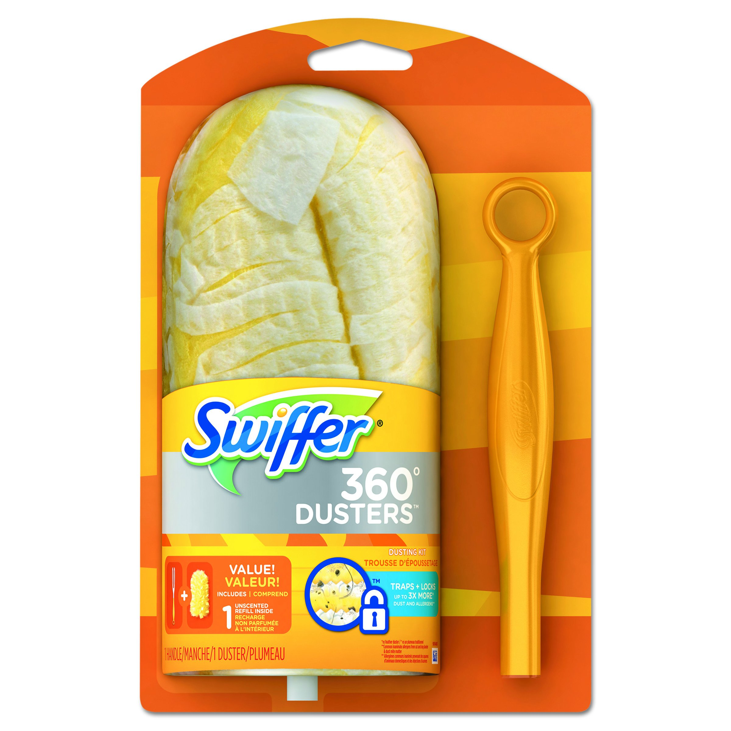 Swiffer PGC 16942 360 Duster Starter Kit, Handle with One Disposable Duster (Pack of 2)