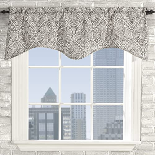 Stylemaster Home Products Lola, 50 X 17 Scalloped Valance, Slate