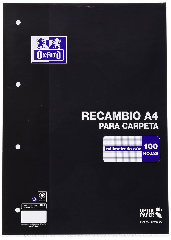 Oxford Classic 100430212 - Recambio hojas sueltas, A4 Hamelin Brands