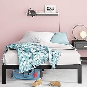Zinus Lorrick Bed Frame, Queen, Black
