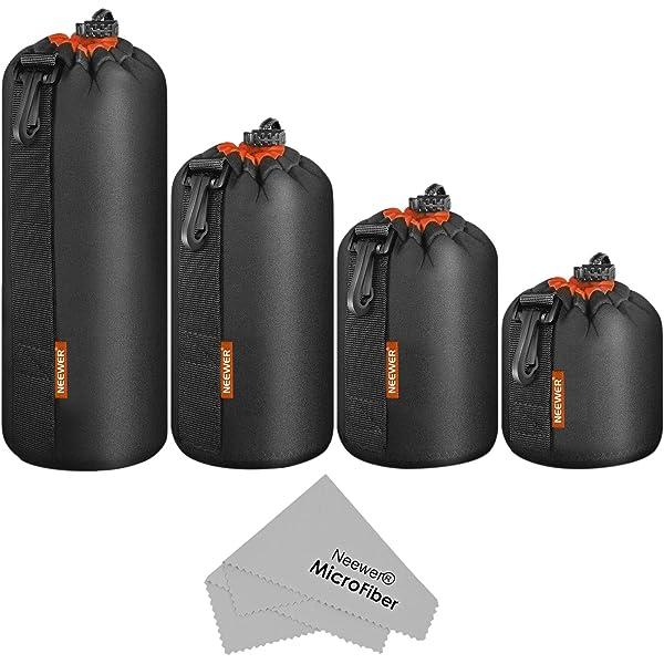 Neoprene DSLR Camera Lens Pouch Bag Protective Case For Canon Nikon Sony LOT CJ