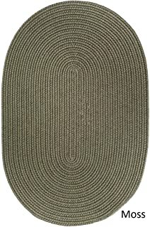 product image for Rhody Rug Woolux Wool Oval Braided Rug by (7' x 9') - 7' x 9' Oval Moss Green