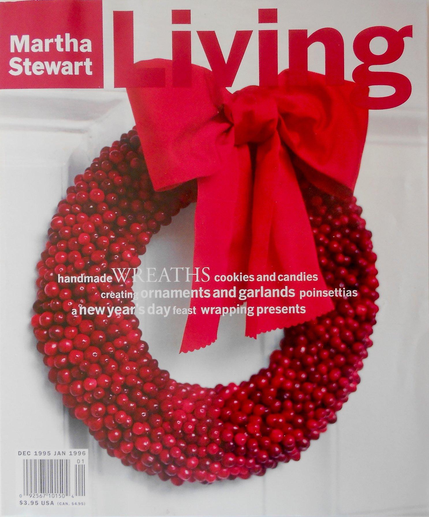 Martha Stewart Living Magazine Dec 1995 Jan 1996 Amazon Com Books