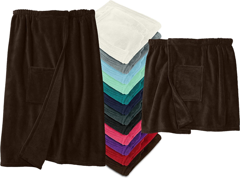 Damen und Herren Kuschel Fleece 777.991 Damen L//XL laken24 Sauna Kilt mit Klettverschluss pink
