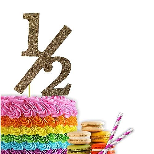 Half Cake Topper 1 2 Birthday Six Months Old