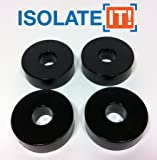 "Isolate It: Sorbothane Vibration Isolation Washer 50 Duro (0.5"" ID - 1.5"" OD - 0.5"" Thick) - 4 Pack"