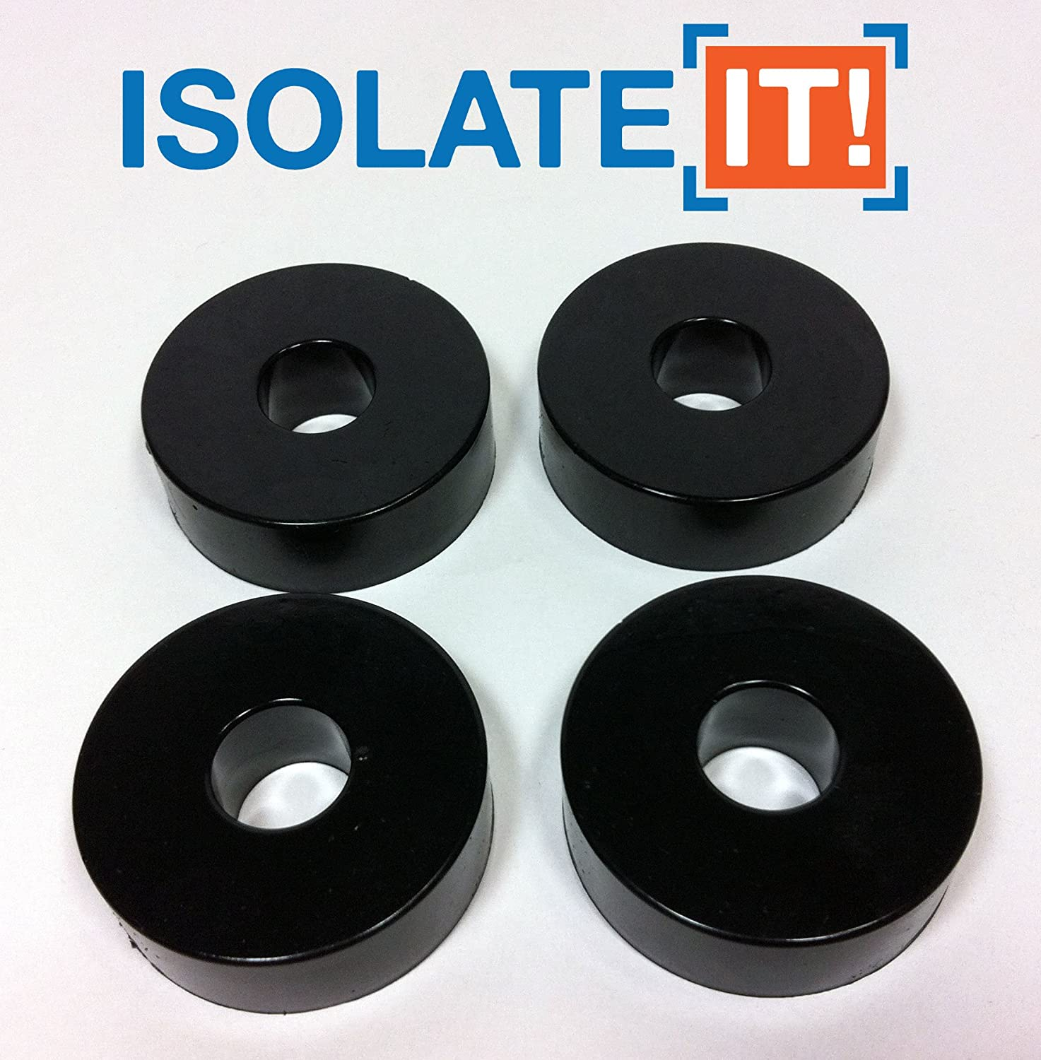 Isolate It Sorbothane Vibration Isolation Washer 30 Duro with 3M PSA 0.5 ID 1.5 OD 0.5 Thick 4 Pack