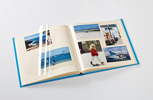 Fun Fotoalbum in Oceanblau 33x34 cm 50 weiße Seiten selbstklebend Buch Album