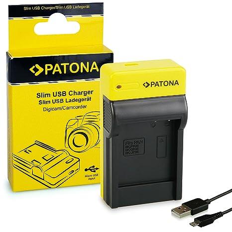 PATONA Estrecho Cargador de Batería para Panasonic DMW-BCF10E ...