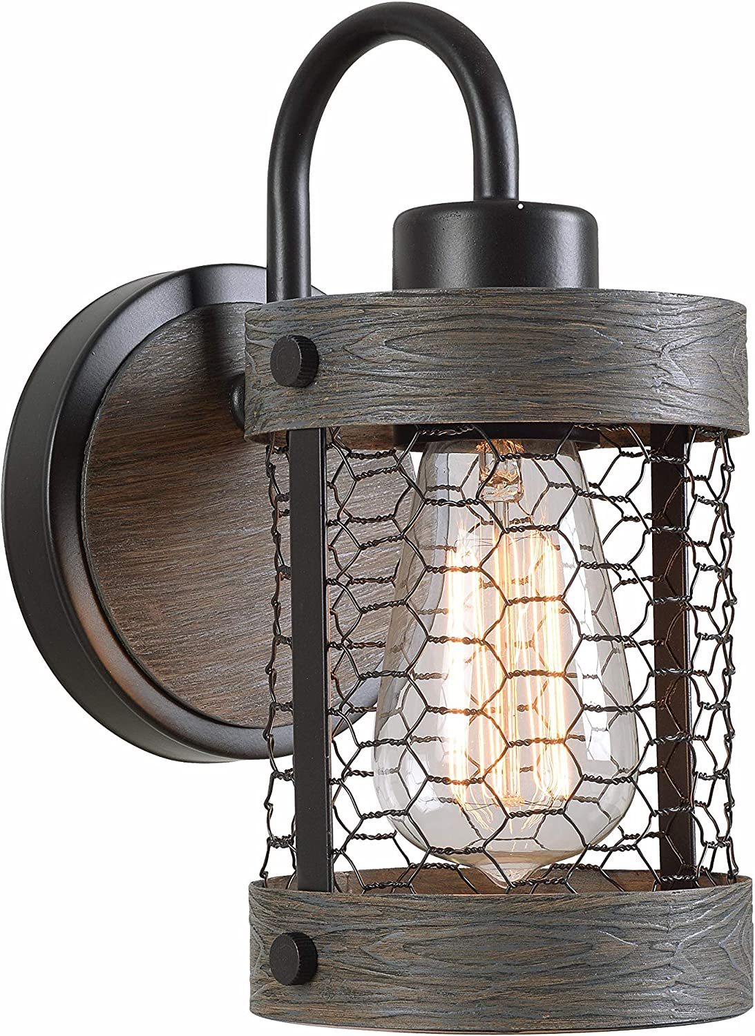 Kenroy Home 94047ORB Cozy Sconces, Wood and Oil Rubbed Bronze