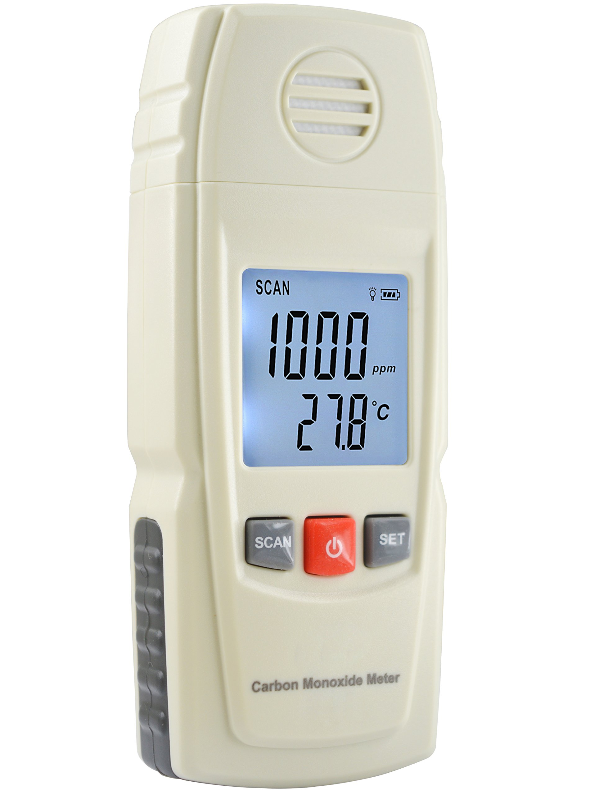 Basic Carbon Monoxide Handheld CO Meter by FORENSICS | Adjustable Alarms | Large Display | Measure up to 1000ppm | Home & Light Industrial Use |