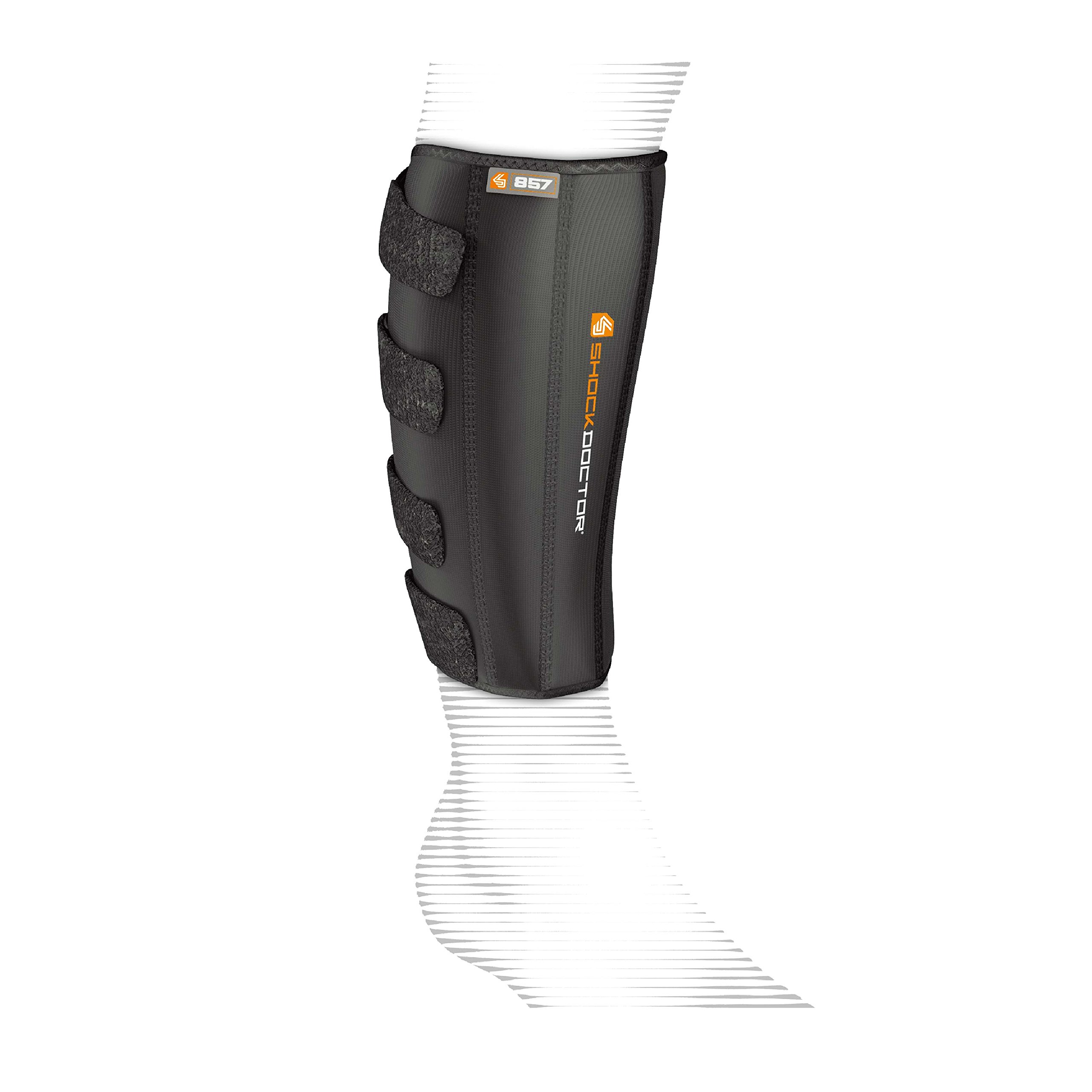 Shock Doctor Calf-Shin Wrap (Black, One Size Fits All)