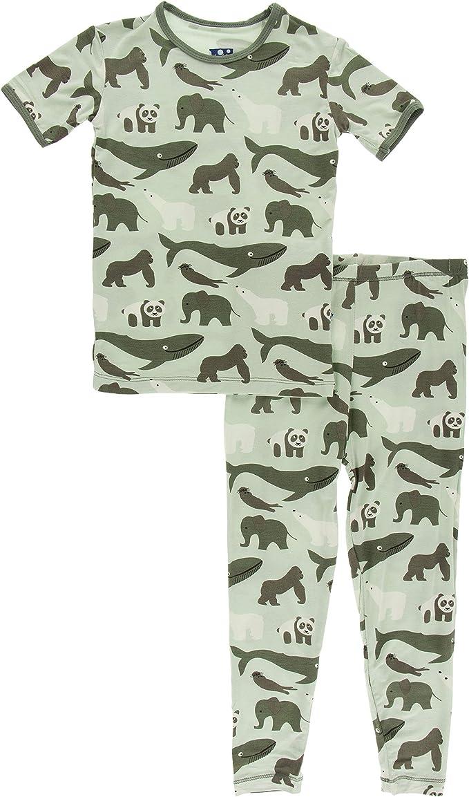 KicKee Pants Print Footie with Zipper Aloe Endangered Animals - Newborn