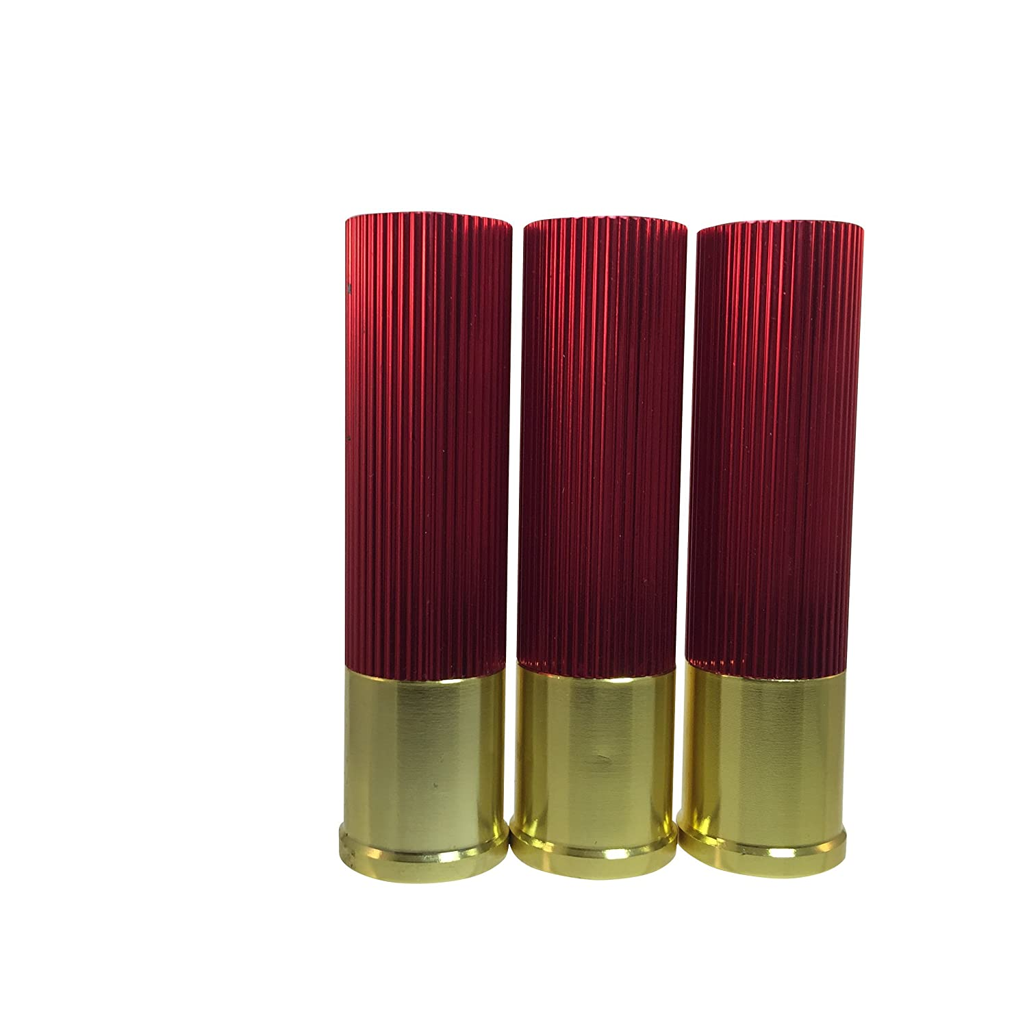 Aluminum LED 3 Pack with batteries Shotgun Shell Flashlights