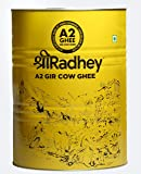 Shree Radhey Certified A2 Gir Cow Ghee - Gluten Free - (Traditionaly Hand Churned) (5 l)