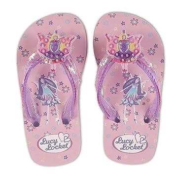 0f56fba30 Pink Sequin Fairy Kids Flip Flops Sandals Shoes Size 34   UK Size 2 ...