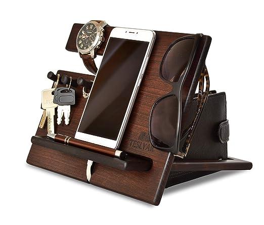 Amazon.com: Soporte de madera para teléfono móvil, con ...
