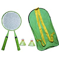 Xcube Badminton Racket for Kids - Baby Badminton Aluminium Toy Set for Children with Multicolour Shuttlecocks and Backpack