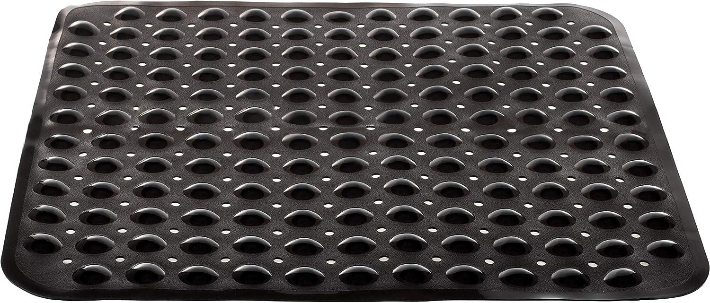 BRANDSSELLER Tapis de Douche de Bain 53x53cm Anti Glisse avec Ventouse Gris Clair