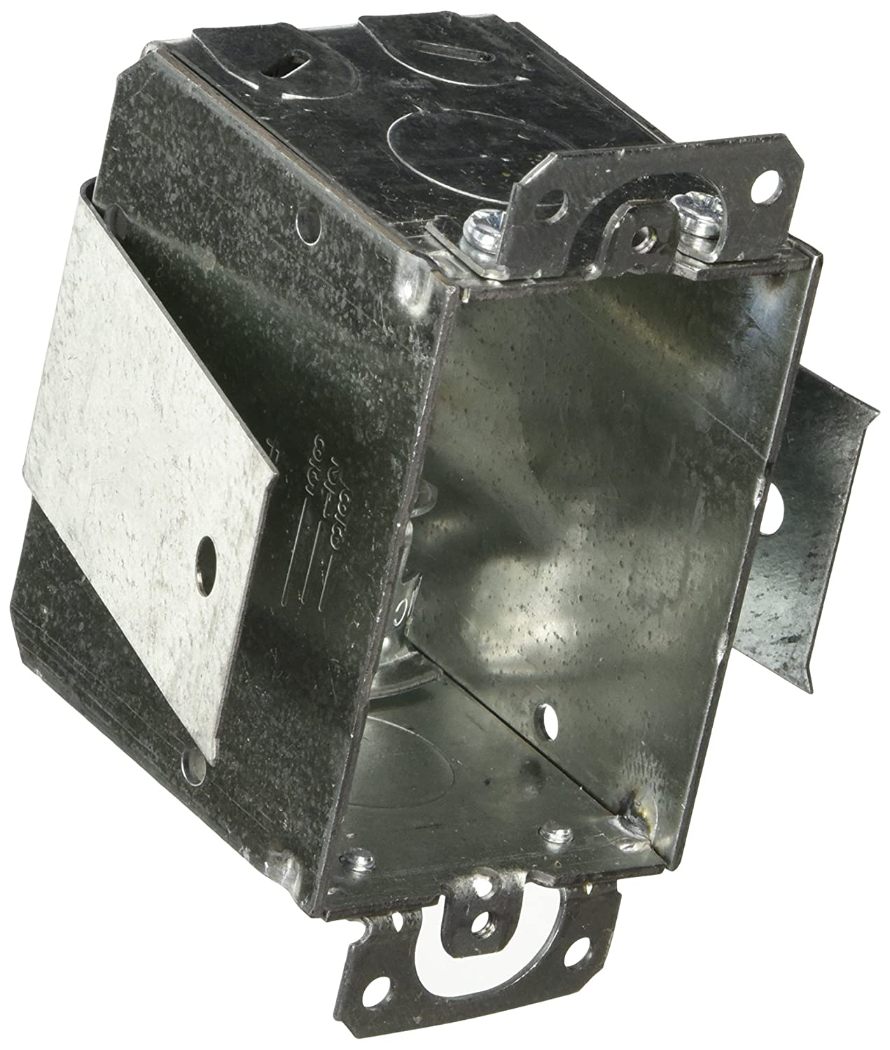 3-Inch x 2-Inch 4 Hubbell-Raco 526 Old Work Saddle 2-1//2-Inch Deep Switch Electrical Box Welded with Plaster Ears, MC//BX//Flex Cable Clamps