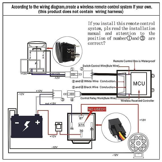 somaer led wireless remote wireless controller for led light bar rh amazon co uk