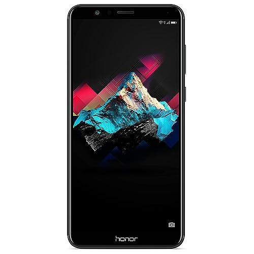 "Honor 7X - 4GB+64GB, Dual Sim, Dual Camera 16+2MP, 5.93"" Full View Display, SIM-Free Smartphone - UK Official Device - Black"