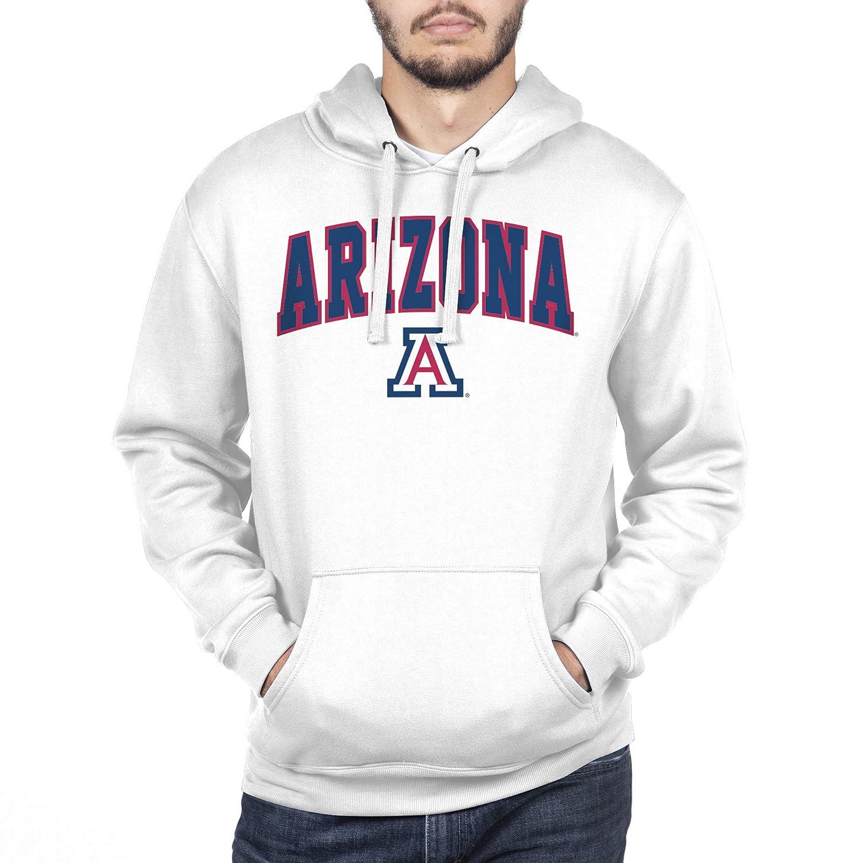White X-Large NCAA Arizona Wildcats Mens Hoodie Sweatshirt White Arch