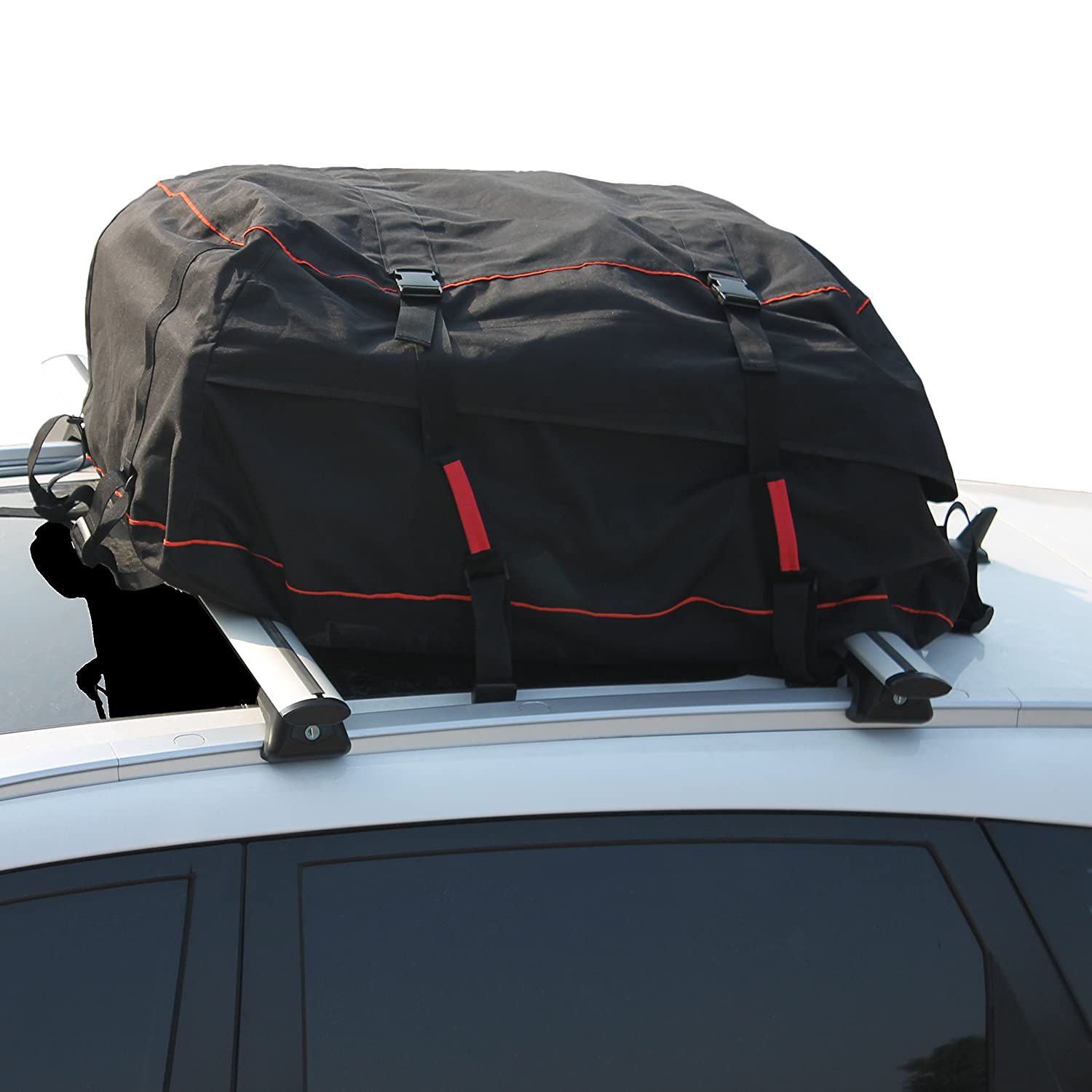 Iztor Car Top Carrier Waterproof Roof Top Cargo Rack 9 Cubic Feet Storage Box Roof Top Bag for Travel and Luggage Transportation